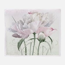 Beautiful Peony Painting Throw Blanket