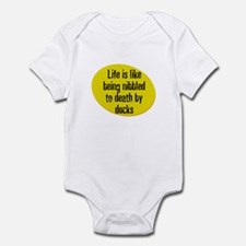 Life is like being nibbled to Infant Bodysuit