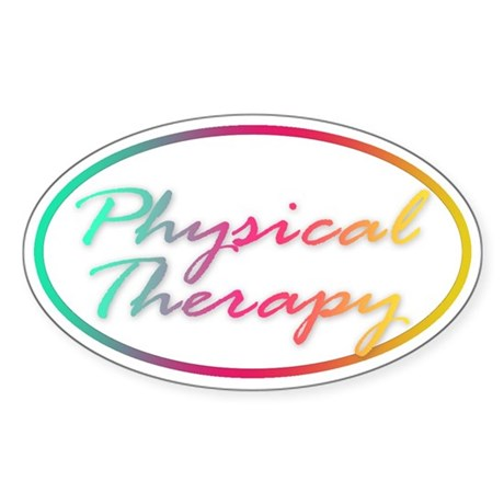 Physical Therapy Oval Sticker