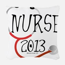 Nurse 2013 Stethoscope Woven Throw Pillow