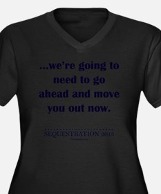 Moving Out Women's Plus Size Dark V-Neck T-Shirt
