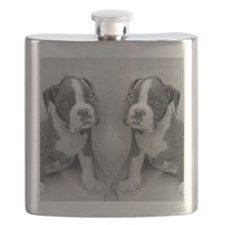 boxer puppy Flask
