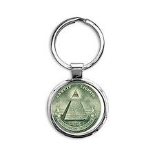 Illuminati Round Keychain