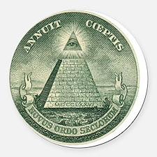 Illuminati Round Car Magnet