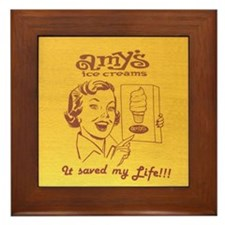 Amy's Ice Creams Retro Framed Art Tile