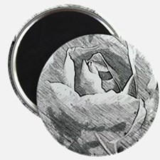 Rose Sketched in Charcoal Magnet