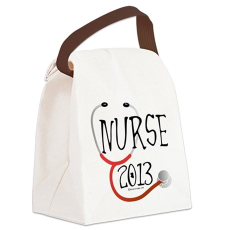 Nurse 2013 Announcement Canvas Lunch Bag