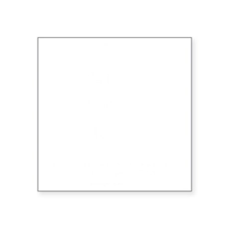 "I Care 20% Less Square Sticker 3"" x 3"""