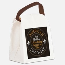 Ask Me How Button Logo Canvas Lunch Bag