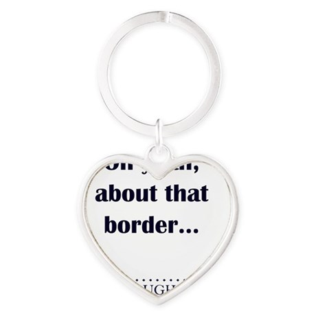 About That Border Heart Keychain
