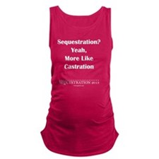 Sequestration? Maternity Tank Top
