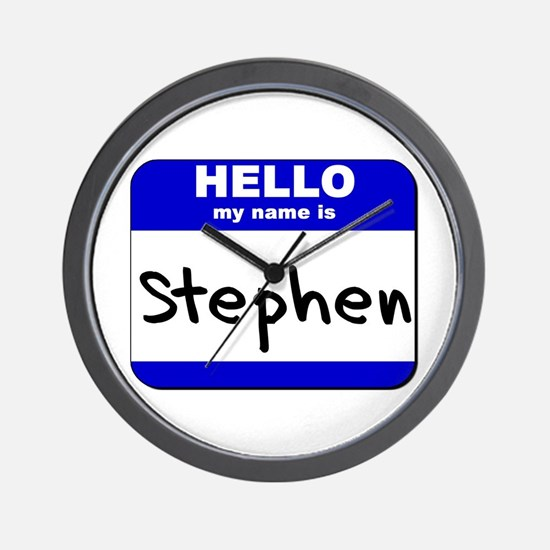 hello my name is stephen  Wall Clock