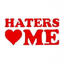 hatersLoveMee1C Aluminum License Plate