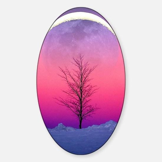 Pink Eclipse Sticker (Oval)