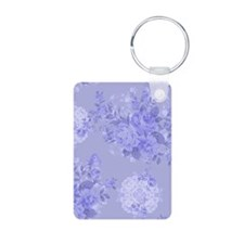 Blue Floral Keychains