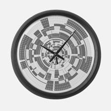 Bits and Bytes Large Wall Clock