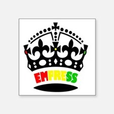 "EMPRESS RASTA Square Sticker 3"" x 3"""