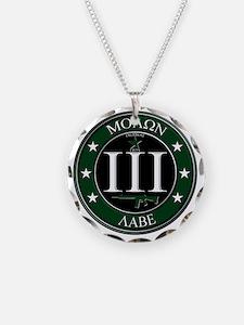 Molon Labe Necklace Circle Charm