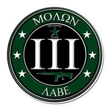 Molon Labe Round Car Magnet