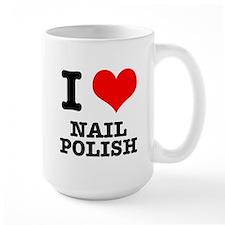 I Heart (Love) Nail Polish Mug