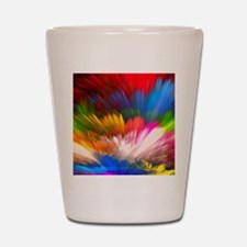 Abstract Clouds Shot Glass