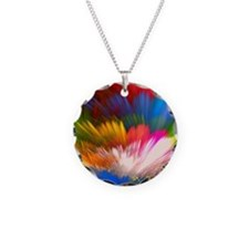 Abstract Clouds Necklace