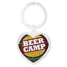 Beer Camp Heart Keychain