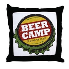 Beer Camp Throw Pillow