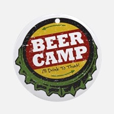 Beer Camp Round Ornament