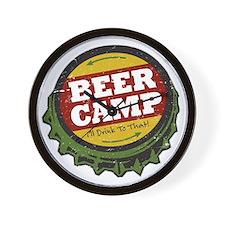 Beer Camp Wall Clock