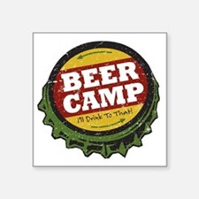 "Beer Camp Square Sticker 3"" x 3"""
