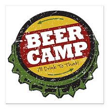 "Beer Camp Square Car Magnet 3"" x 3"""