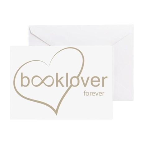 Book Lover Forever - tan Greeting Card