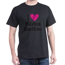 I Love Misha Collins (Pink Heart) T-Shirt