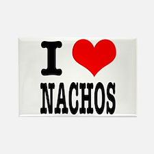 I Heart (Love) Nachos Rectangle Magnet