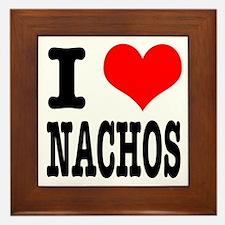 I Heart (Love) Nachos Framed Tile