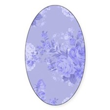 Blue Floral Decal