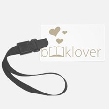 Book Lover - floating hearts - t Luggage Tag