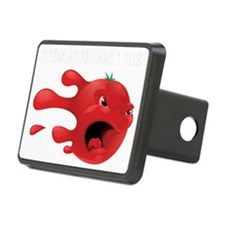 tomato battle white text Hitch Cover