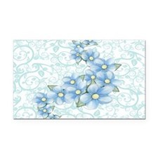 baby blue flowers Rectangle Car Magnet