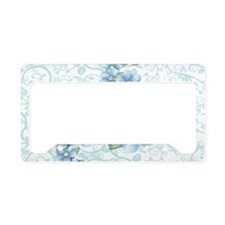 baby blue flowers License Plate Holder