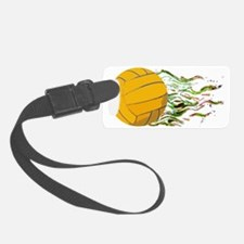 Flaming Waterpolo Ball US Olympi Luggage Tag