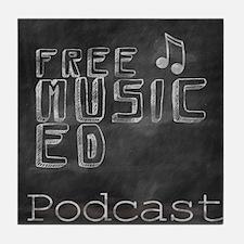 Free Music Ed Podcast Tile Coaster