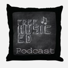 Free Music Ed Podcast Throw Pillow