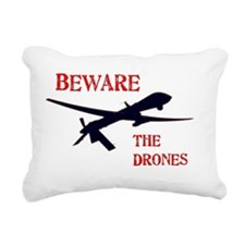 Beware The Drones Rectangular Canvas Pillow