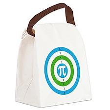Pi Day Bullseye version 3 Canvas Lunch Bag