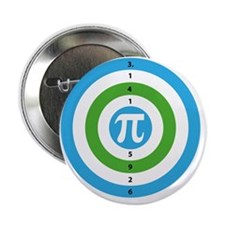 "Pi Day Bullseye version 3 2.25"" Button"