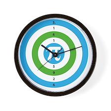 Pi Day Bullseye version 3 Wall Clock