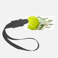 Tennis Ball Flames Artistic US O Luggage Tag