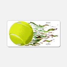 Tennis Ball Flames Artistic Aluminum License Plate